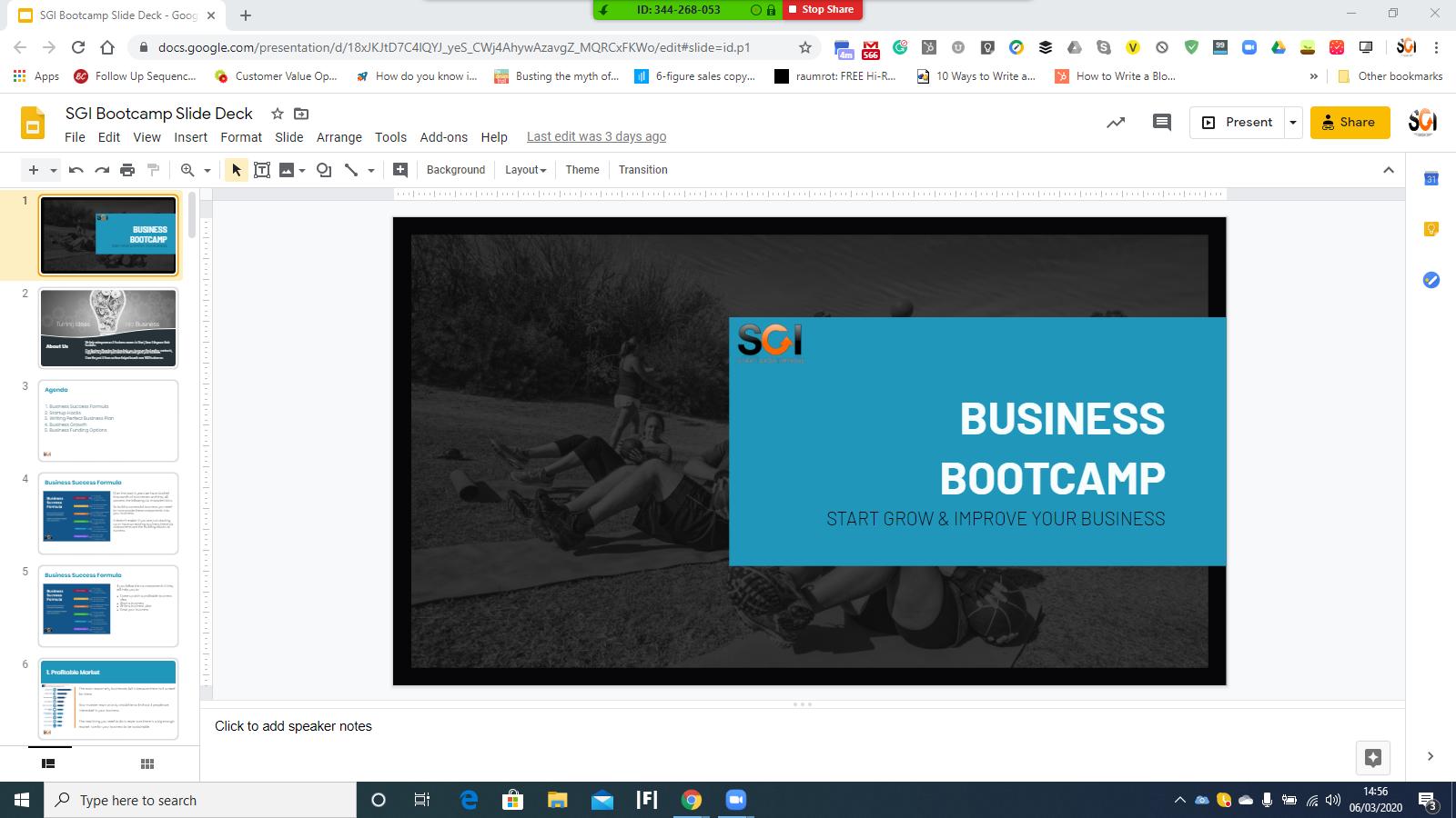 SGI bootcamp